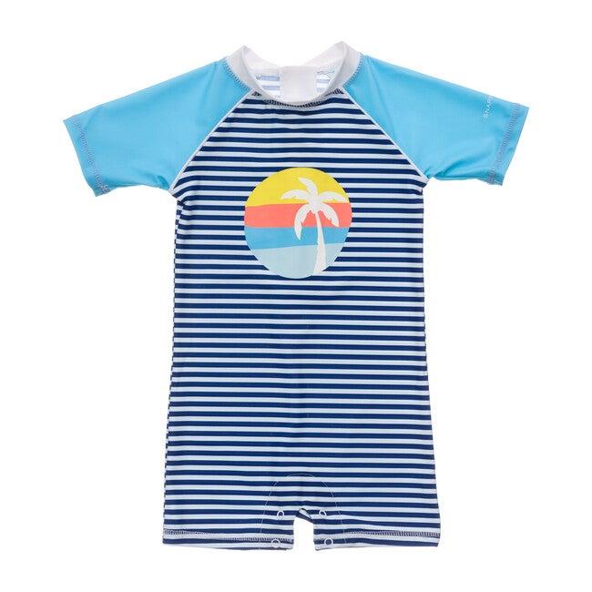Sunset Stripe Baby Ss Sunsuit
