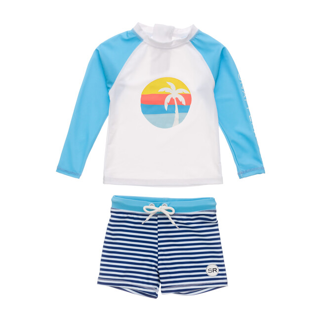 Sunset Stripe Baby Ls Set