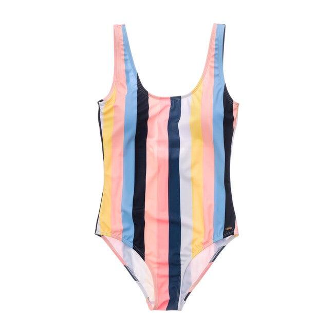 Womens Opti Stripe Scoop Swimsuit