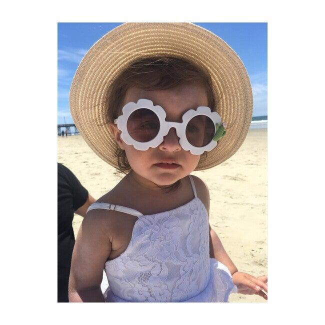 Cactus Monogrammable Sunglasses, White