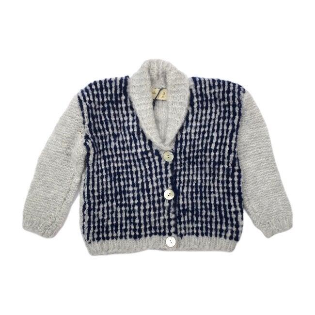 Jacob Tweed Knit Cardigan,  Grey Cloud - Cardigans - 1