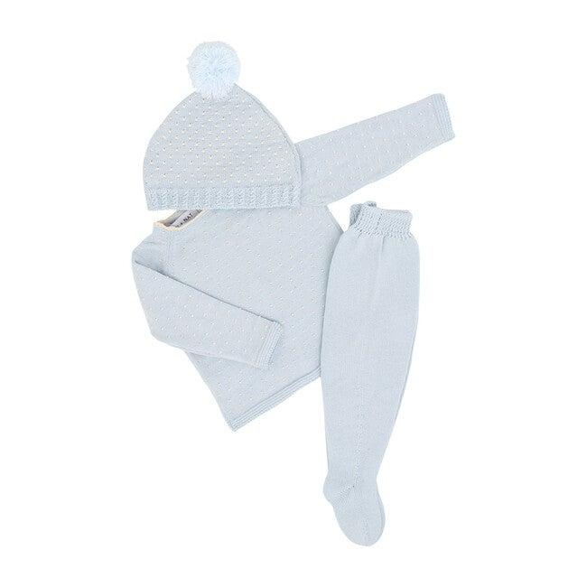 S+N Cotton 3 pc. Knit Set, Sky Blue