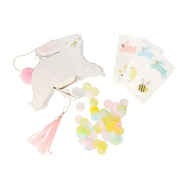 Leaping Bunny Pinata Favours, White