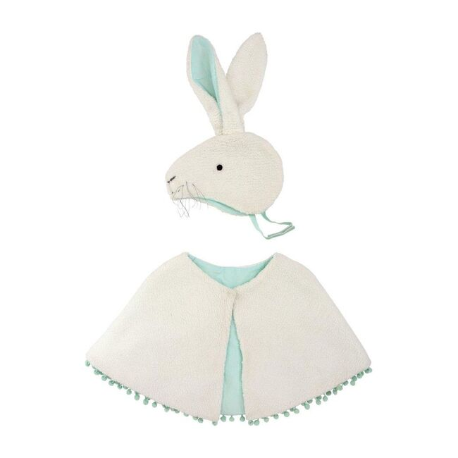 Sherpa Fleece Bunny Costume, White