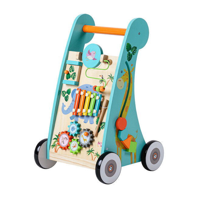 Preschool Play Lab Safari Animal Wooden Baby Walker