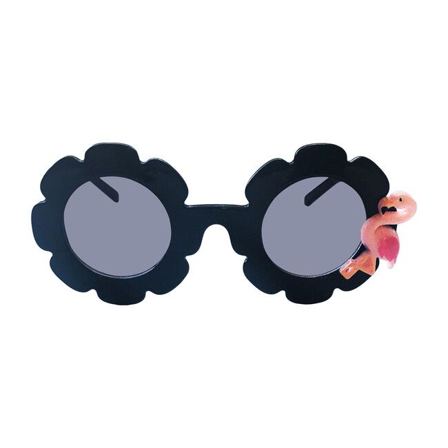 Flamingo Monogrammable Sunglasses, Black