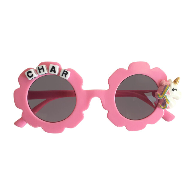 Monogrammable MultiColored Unicorn Sunglasses, Pink
