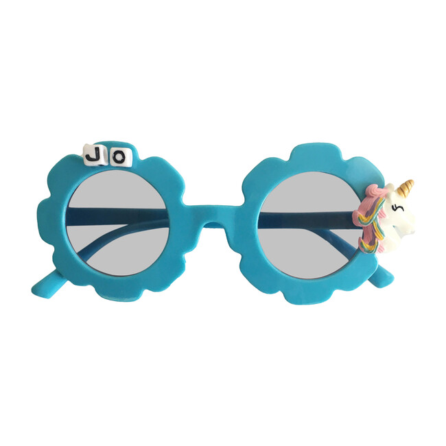 Monogrammable MultiColored Unicorn Sunglasses, Blue
