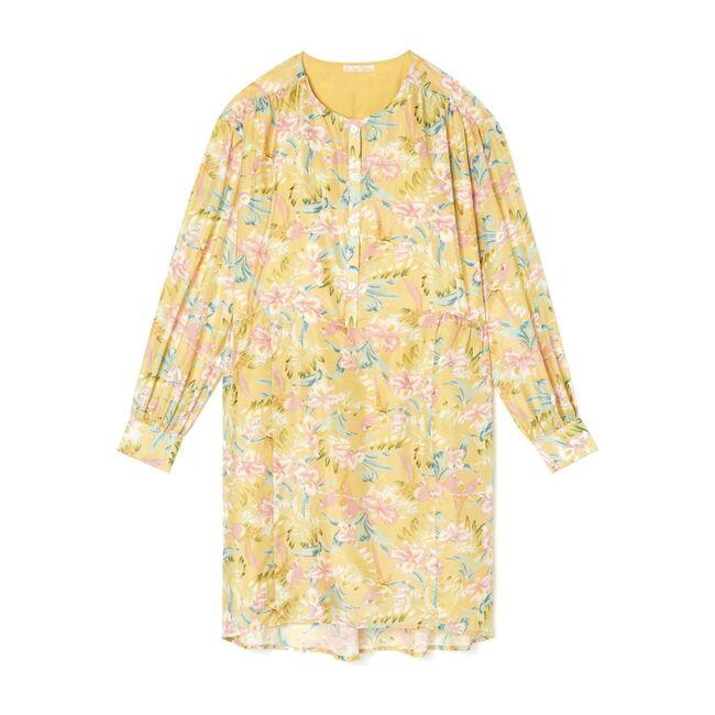 Women's Wara Dress, Soft Honey Parrots