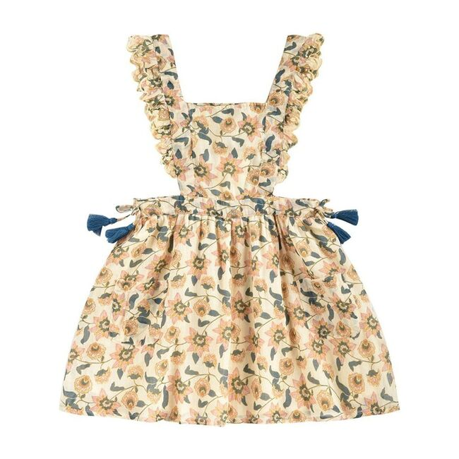 Mistinguette Dress, Cream Flowers