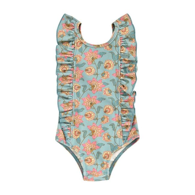 Mosillos One Piece, Turquoise Flowers