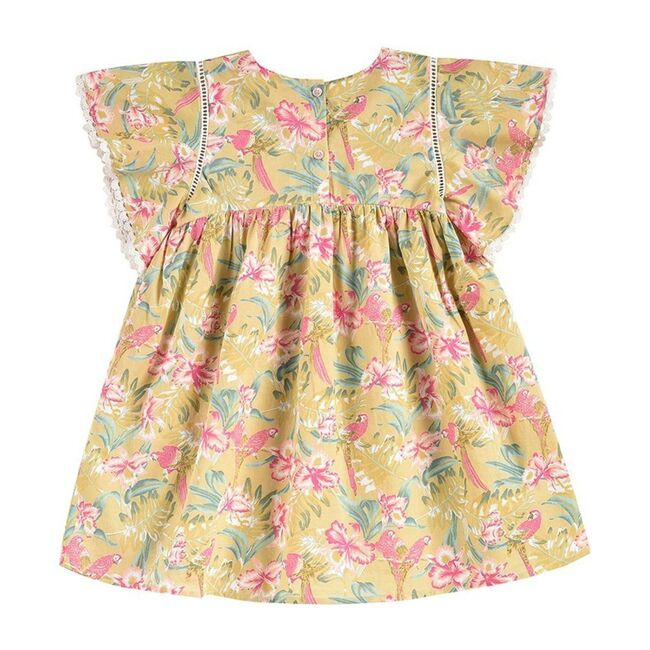 Christina Dress, Soft Honey Parrots