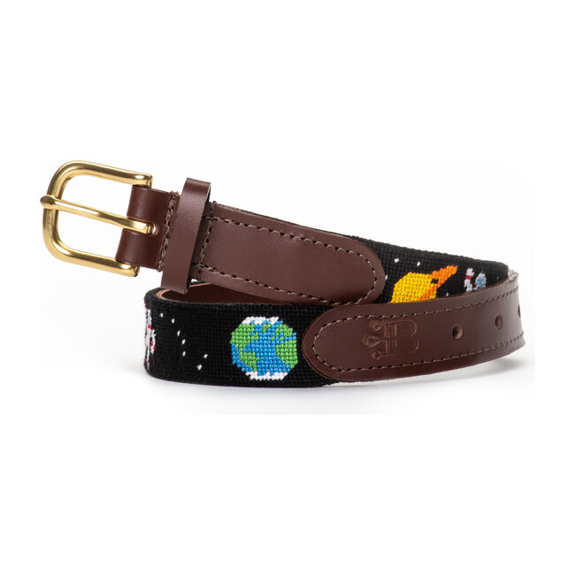 Out of This World Space Needlepoint Belt, Black