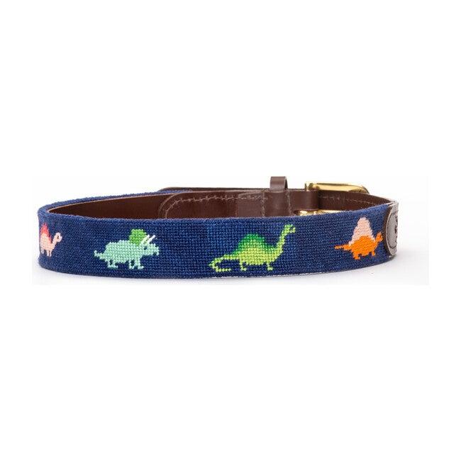Roar! Dinosaur Needlepoint Belt, Blue