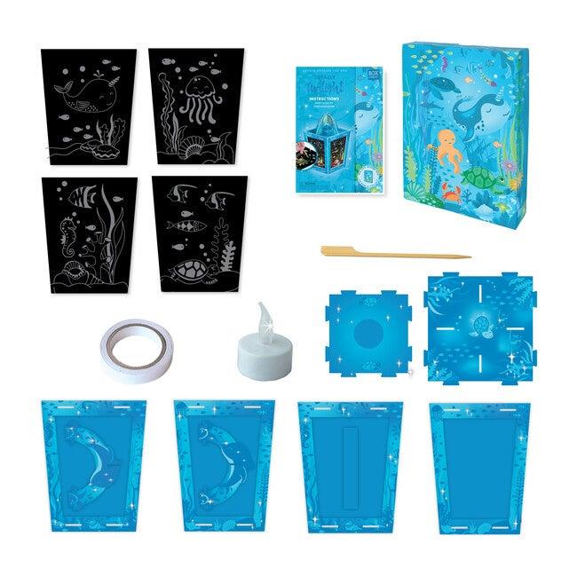 Totally Twilight Sea Life Lantern Scratch Art Set