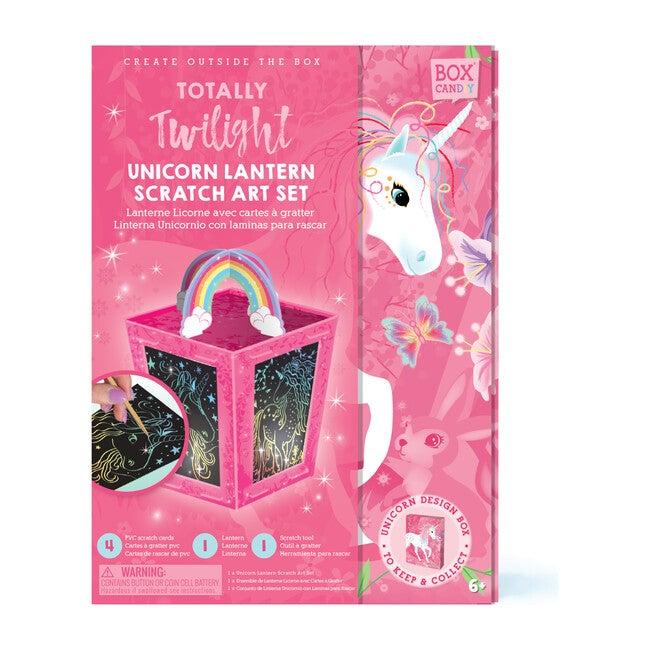 Totally Twilight Unicorn Lantern Scratch Art Set