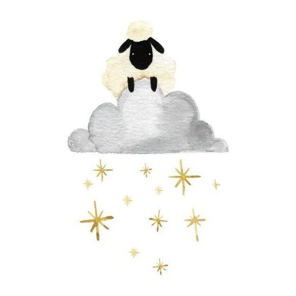 Sheep Cloud And Stars