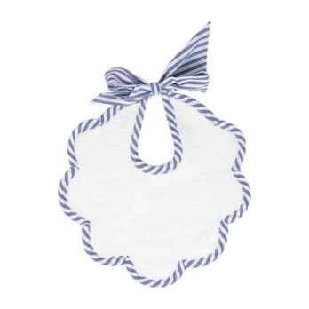 Scalloped Bib, Harbor Island Stripe