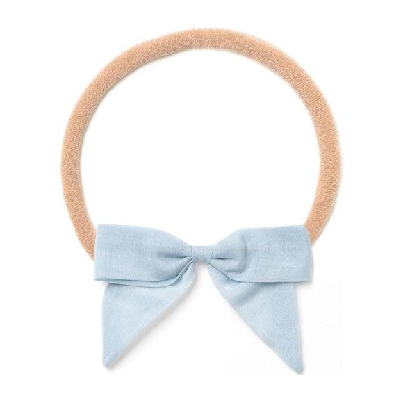 Headband Bow, Blue