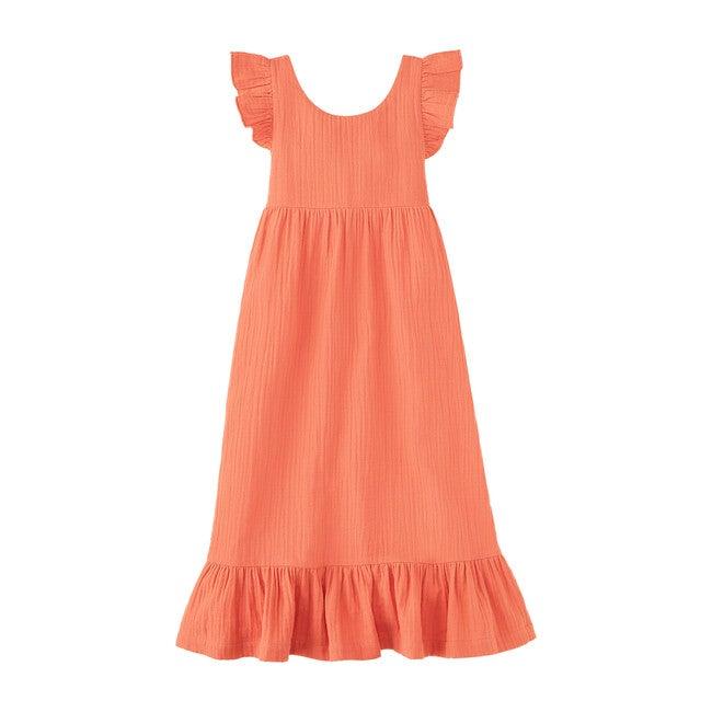 Ruffle Maxi Dress, Burnt Sienna