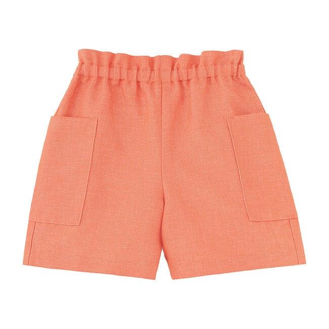 Paperbag Waist Shorts, Burnt Sienna