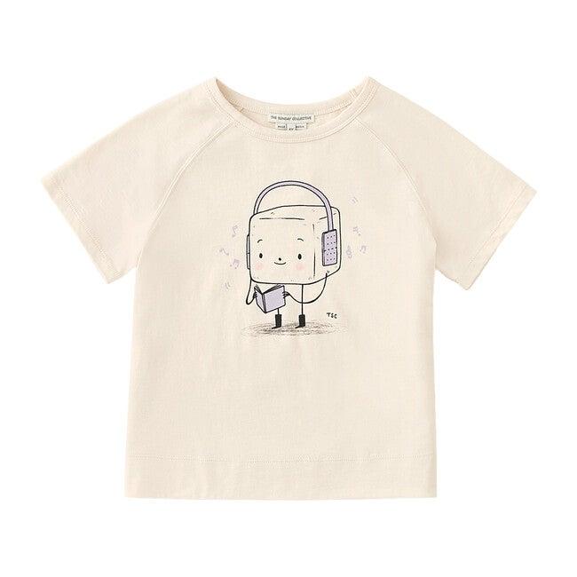 Musical Marshmallow Raglan Sleeve T-Shirt, Pampas White