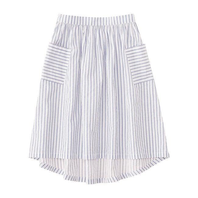 Hi-Low Midi Skirt, Blue