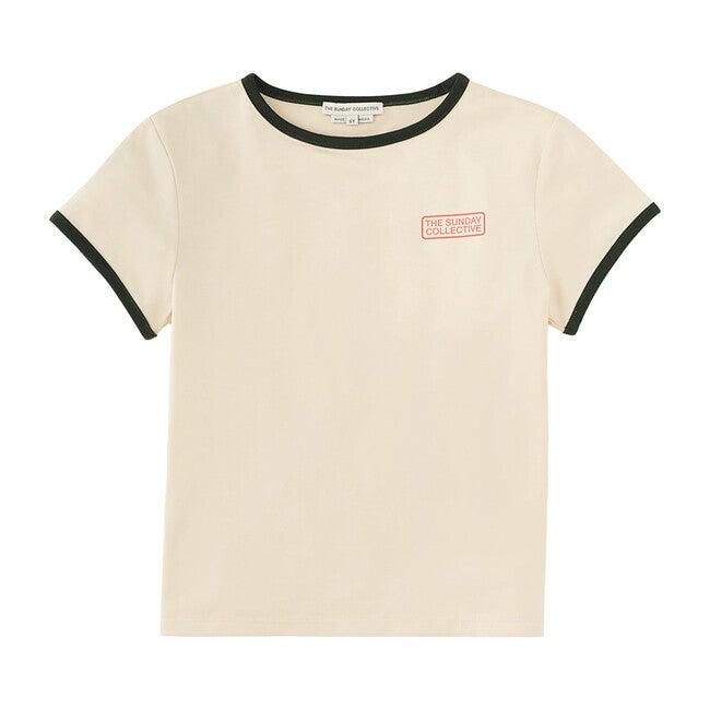 Contrast Binding T-Shirt, Pampas White