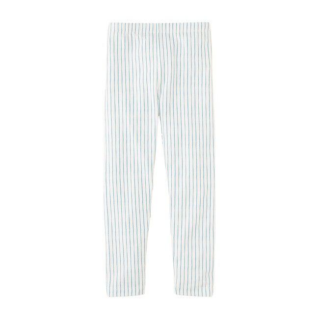 Striped Leggings, Blue
