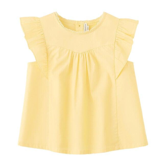 Ruffle Sleeve Blouse, Daffodil Yellow