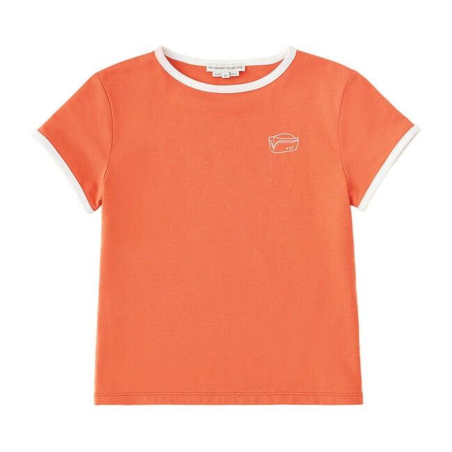 Contrast Binding T-Shirt, Burnt Sienna