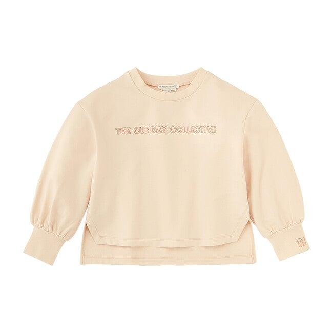 Blouson Sleeve Sweatshirt, Soft Tan