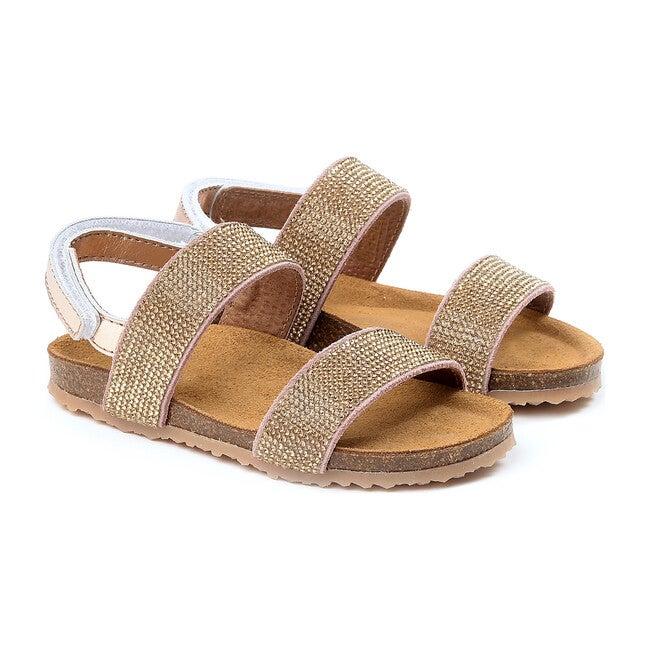 Glittered Sandals, Copper