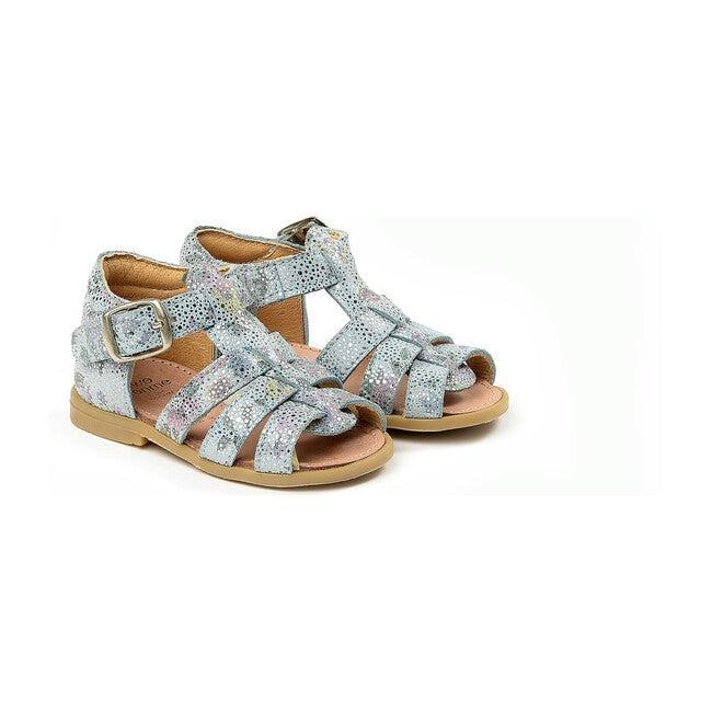 Buckled Sandals, Light Blue