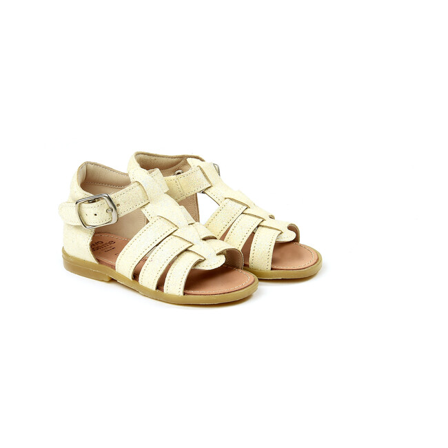 Buckled Sandals, White