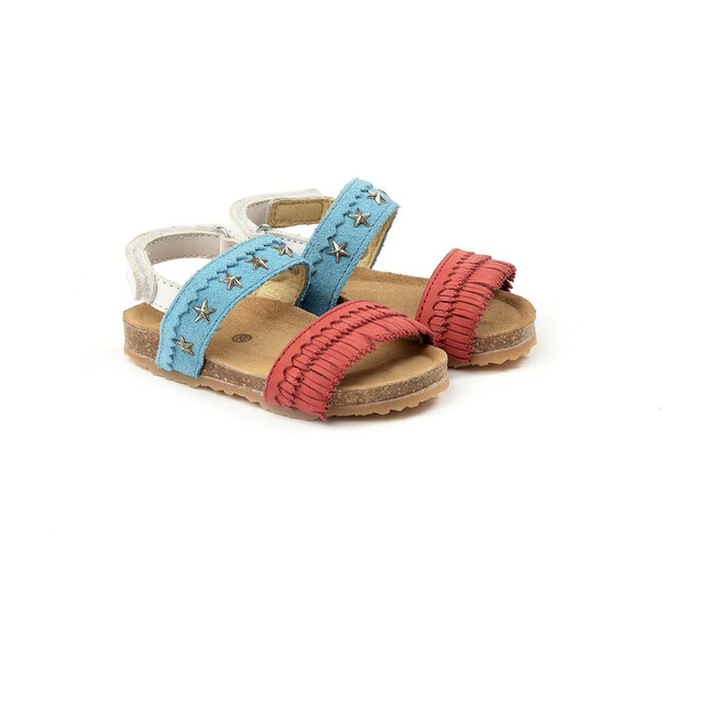 Sandals, Red/Turquoise