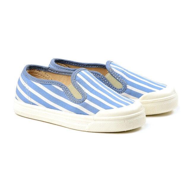 Striped Slip On, Light Blue