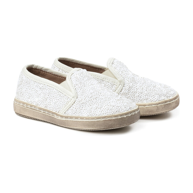 Sequins Sneakers, White