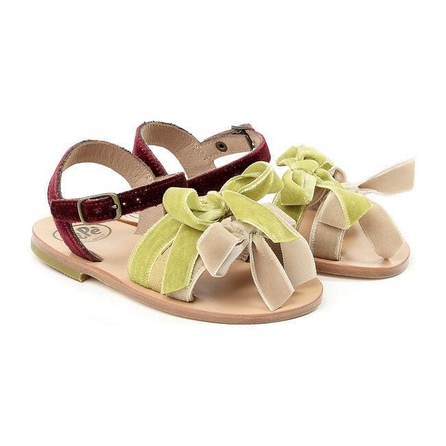 Velvet Sandals, Green
