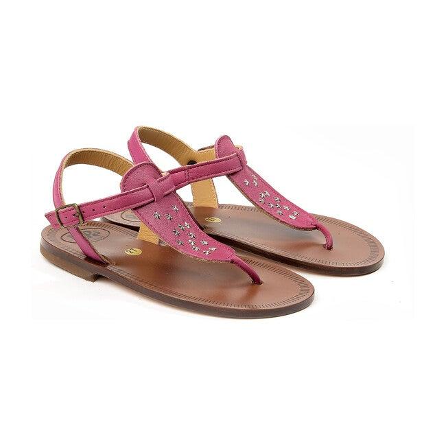 Stars Detail Sandals, Fuxia