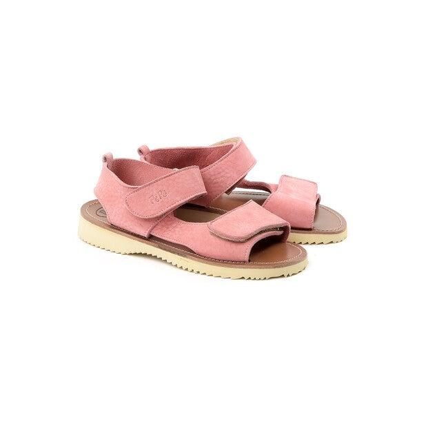 Velcro Strap Sandals, Pink