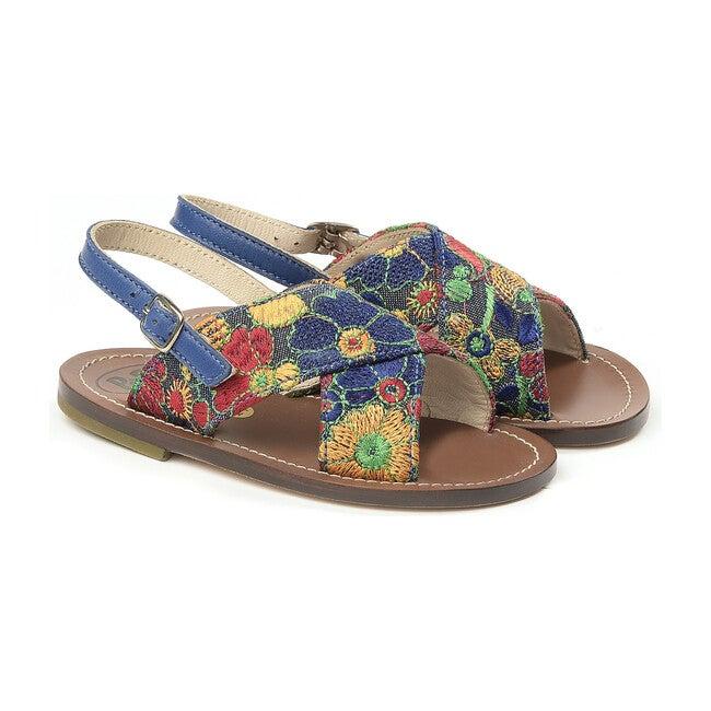 Florals Sandals, Navy
