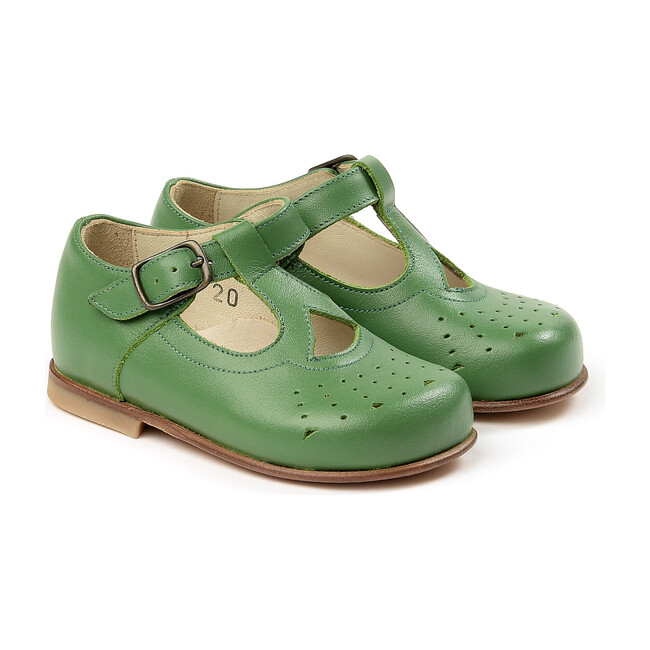 Buckled Sandals, Green