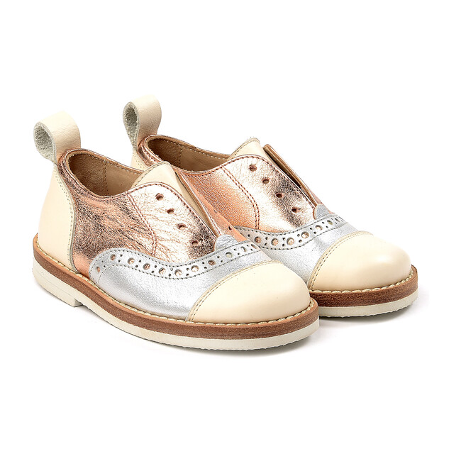 Lace-Up Shoes, Silver