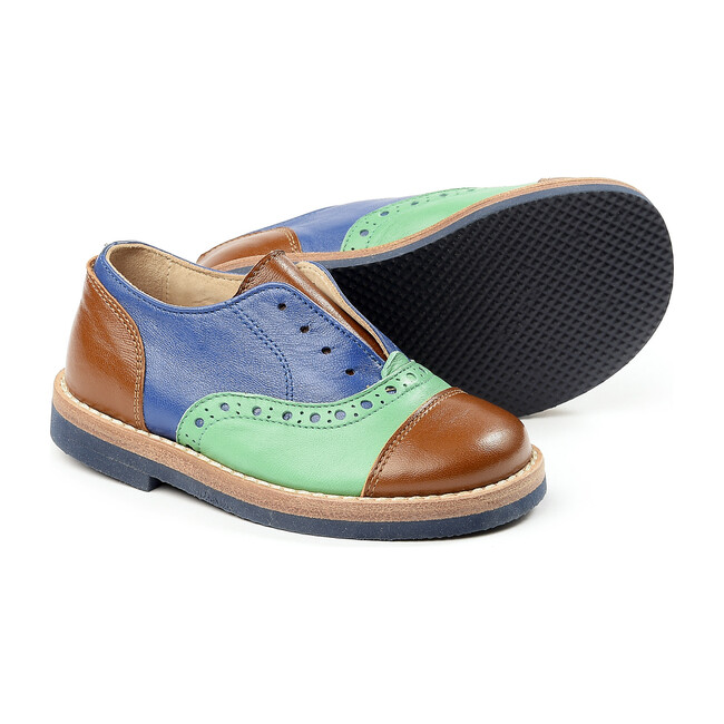 Lace-Up Shoes, Brown/Navy