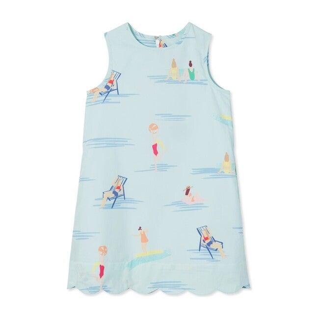 Piper Scallop Dress, Beach Ball Babes print
