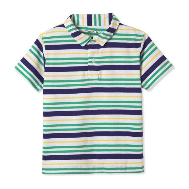 Henry Short Sleeve Polo, Blarney Multistripe