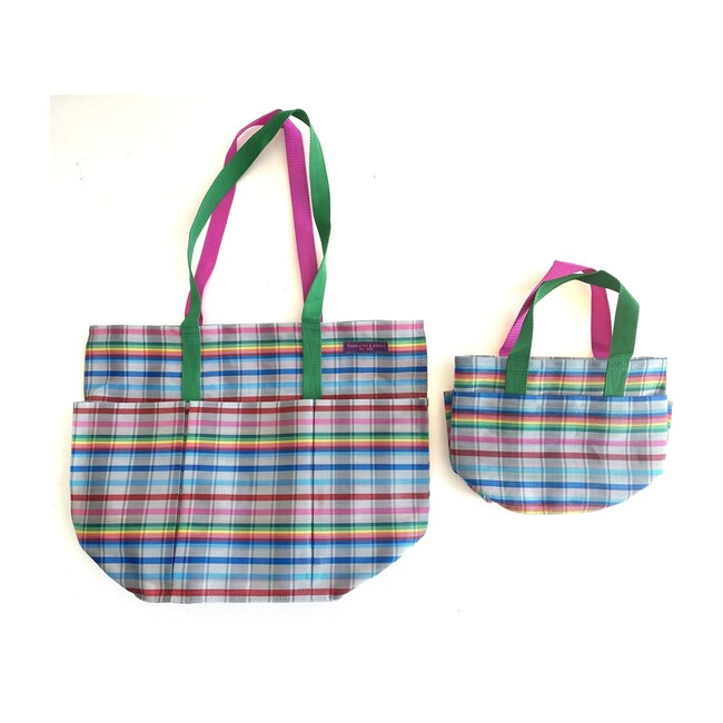 Grey Rainbow Garden Pockets Galore Bag
