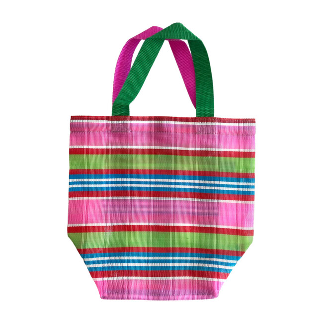 Pink Plaid Oversized Beach Bag