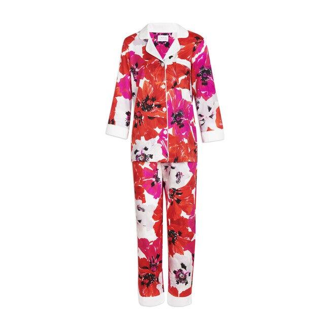 Women's Theo Pajama Set, Poppy Print